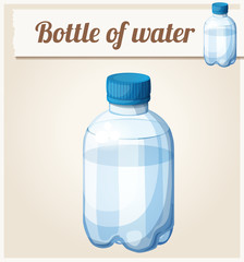 Bottle of water. Detailed vector icon