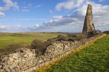 Remains of Hadleigh Castle in Essex