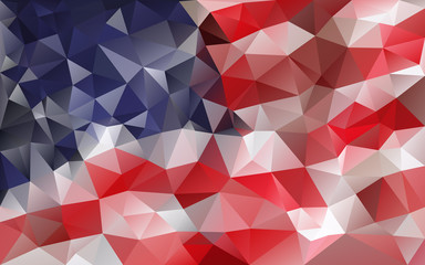 Cool American abstract background - retro style mosaic polygonal