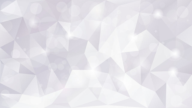 Light grey abstract mosaic polygonal background with sparkles