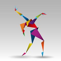 Obraz tańcząca kobieta wektor - fototapety do salonu
