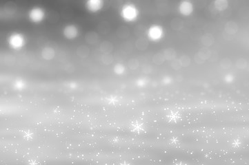 Christmas grey background. the winter background, falling snowfl