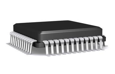 3D Render Microchip.