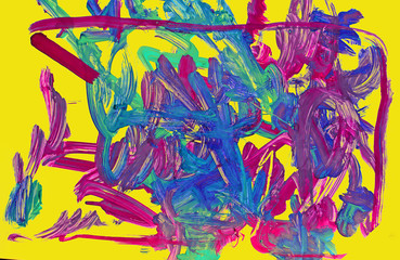 Abstract pattern consists of lines and multi-colored stains of p