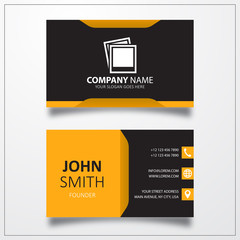 Picture icon. Business card template