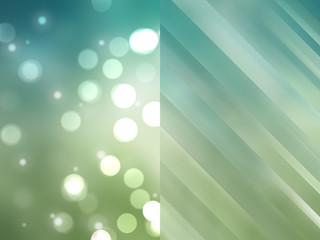 Bokeh light, shimmering blur spot lights on blue and green