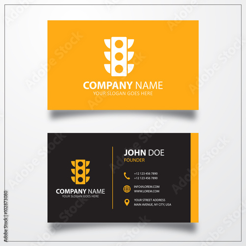 Traffic Light Icon Business Card Template Stock Image And Royalty