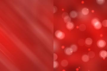 Bokeh light, shimmering blur spot lights on red abstract backgro