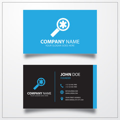 Medical search icon. Business card template
