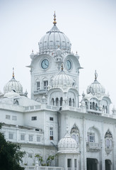 The white building in the golden temple