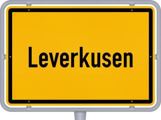Ortsschild, Leverkusen