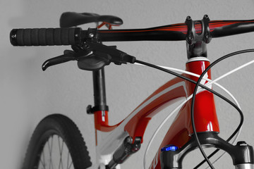 of mountain bike handlebar