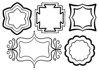 Graphic Symmetrical Vector Frame Set