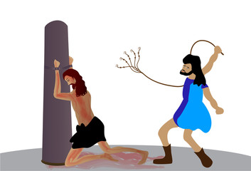 The scourging of Jesus Christ