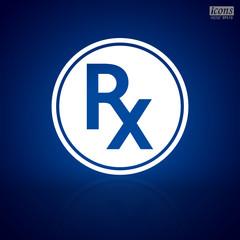 Rx medical /medicine sign.