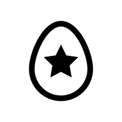 Icon Easter eggs without color. Holiday icon.