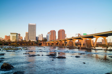 View of the skyline in Richmond, Virginia.