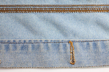 Fragment of jeans texture background.