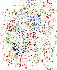 Colorful paint drops background texture