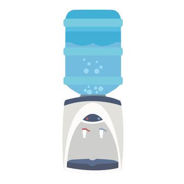 water dispenser cooler bottle purifier flat blue faucet equipment