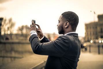 Man taking pictures