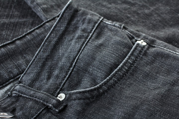 new black jeans handmade close up
