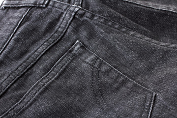 new black jeans handmade close up