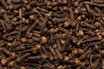 freshly dryed clove spice texture close up