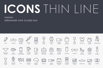 fashion Thin Line Icons