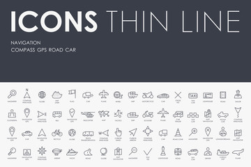 navigation Thin Line Icons