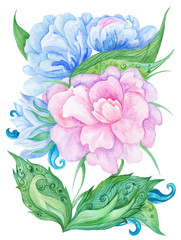 Watercolor Fairy Floral Card