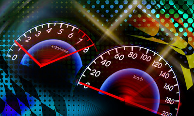 Fototapete -  racing background