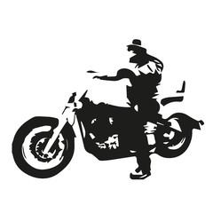 Chopper motorcycle, vector illustration