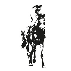 Horse racing, vector illustration, front view