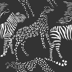 Seamless pattern savanna animals
