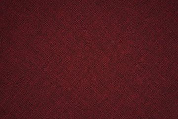 Closeup detail of red fabric texture background.