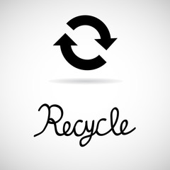 Recycle sign isolated on white background Vector EPS10, Great for any use