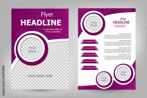 Quotvector flyer template designquot stock image and royalty for Blank flyer templates