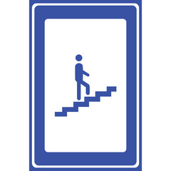 Man on stairs icon vector button logo symbol concept Vector EPS10, Great for any use.