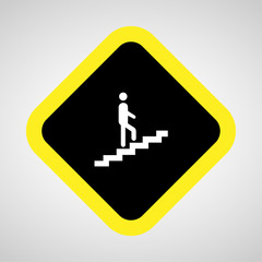 Man on Stairs going up Vector EPS10, Great for any use.