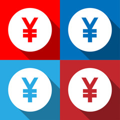Yen sign icon set Vector EPS10, Great for any use.