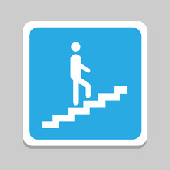 Man walk on stair Vector EPS10, Great for any use.