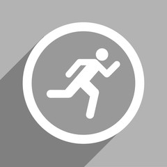 Grey exit sign icon Vector EPS10, Great for any use.