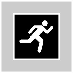 Emergency exit icon Vector EPS10, Great for any use.