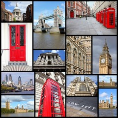 London travel collage