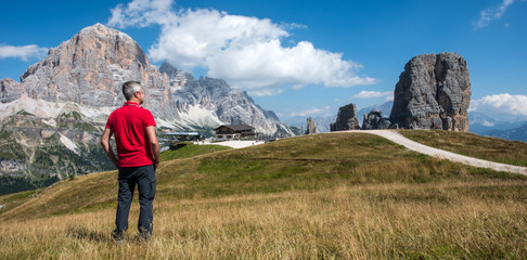 Relax at Five Tower, Dolomites mountain