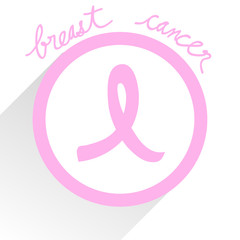 Breast Cancer Ribbon Sign Vector EPS10, Great for any use.