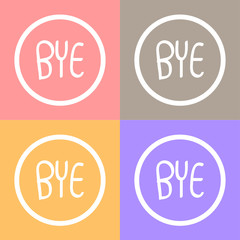 BYE! Comic Speech Vector EPS10, Great for any use.