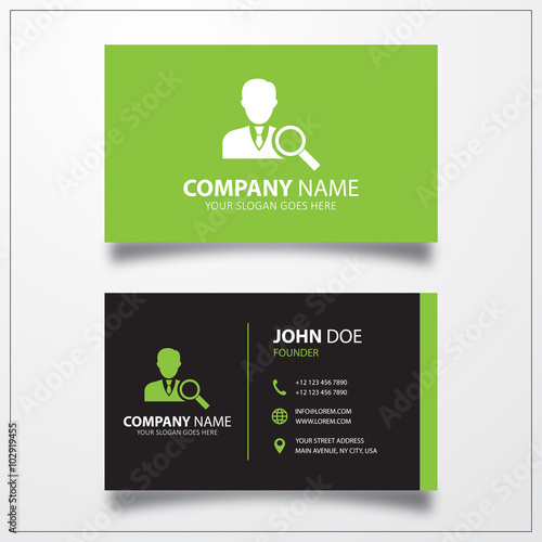 Job Search Icon Business Card Template