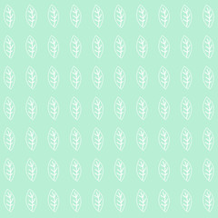 Green Mint leaf Background Pattern Vector EPS10, Great for any use.